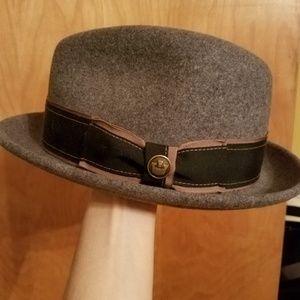 Goorin Bros grey fedora hat medium